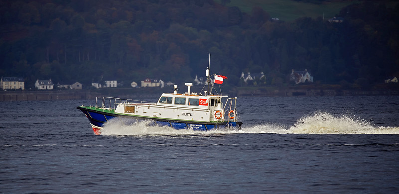 Pilot Cutter 'Mount Stuart' off Gourock - 5 October 2018