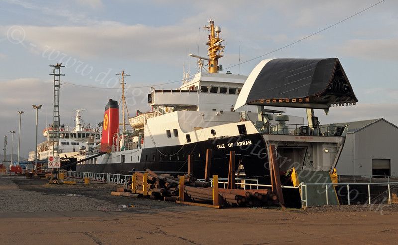 'Isle of Arran' - Garvel Dry Dock - 15 January 2012