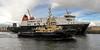 Svitzer Milford Passes MV Finlaggan - James Watt Dock - 10 April 2012