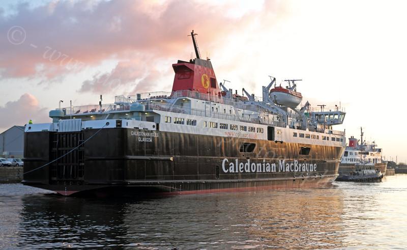 Caledonian Isles - James Watt Dock - 19 January 2012