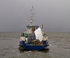 'Lyrawa Bay' - with Damaged Visor from the 'Coruisk' Departing James Watt Dock - 15 March 2014