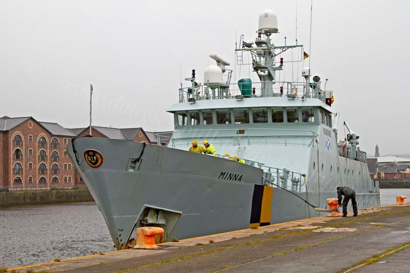 Minna Berthing at James Watt Dock - 22 July 2012