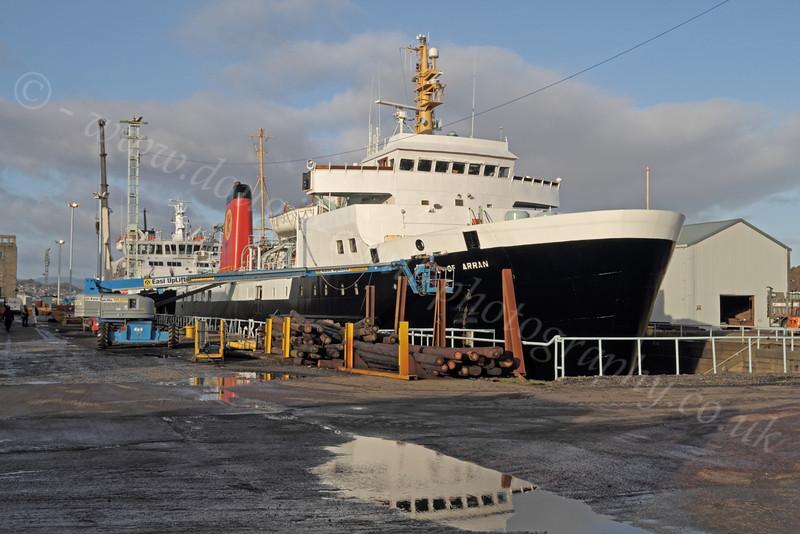 'Isle of Arran' - Garvel Dry Dock - 12 January 2012