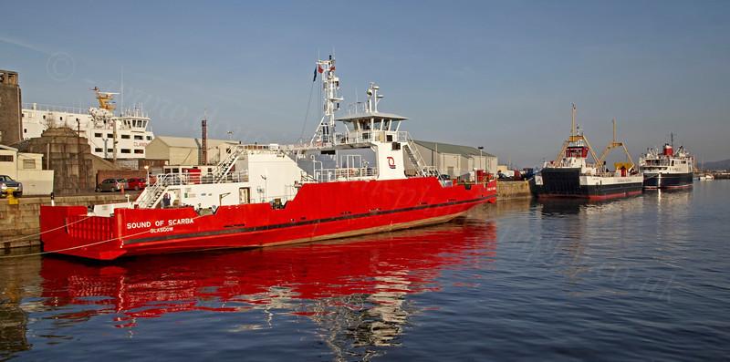 Various Ferries - James Watt Dock - 18 February 2013