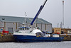 'Lyrawa Bay' - with Damaged Visor from the 'Coruisk' at James Watt Dock - 15 March 2014