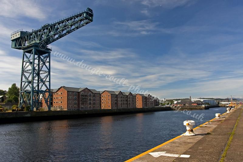 Large Crane and Housing Complex - James Watt Dock, Greenock