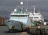 Minna and Hebridean Princess - James Watt Dock - 26 December 2011