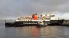 'Isle of Arran' Exits Garvel Dry Dock - 19 January 2012