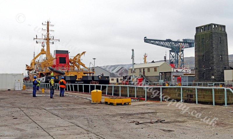 SD Salmoor - Exiting Garvel Dry Dock, Greenock