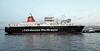 Caledonian Isles Exits Garvel Dry Dock - James Watt Dock - 19 January 2012