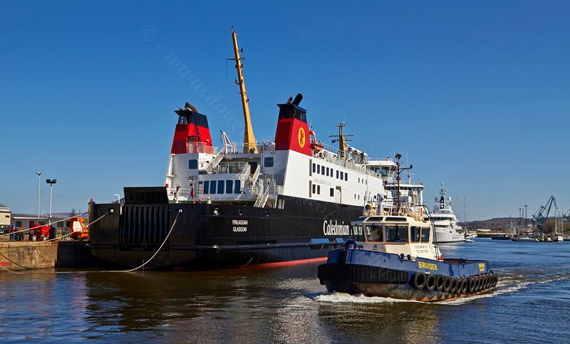 'MV Finlaggan' and 'Bruiser' at James Watt Dock - 18 April 2014
