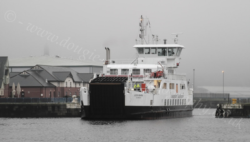 Loch Shira Going Through the Gap at James Watt Dock - 27 December 2011