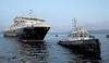 Caledonian Isles and Battler - James Watt Dock - 19 January 2012
