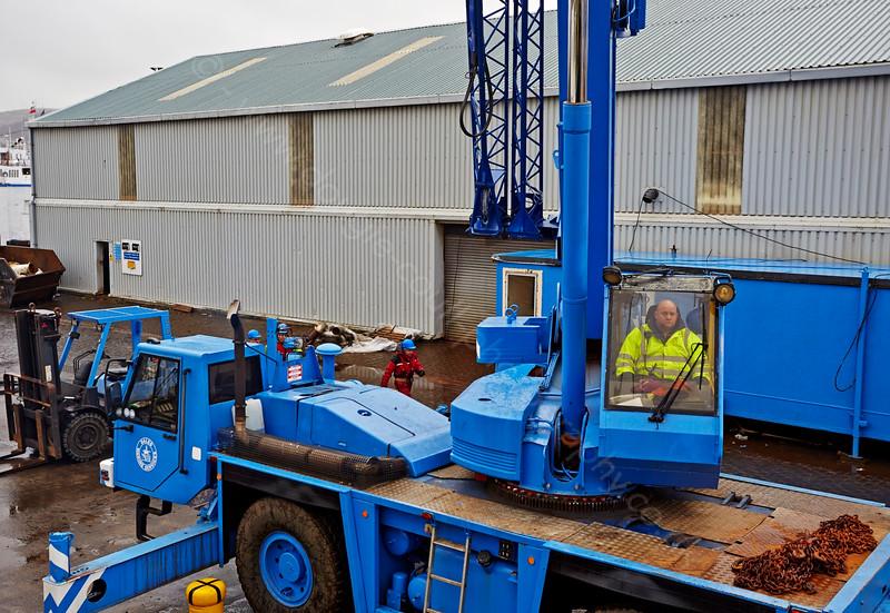 Being Hoisted Ashore at the Garvel Dry Dock - 25 February 2015