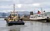 Svitzer Milford Departing the James Watt Dock - 12 April 2012