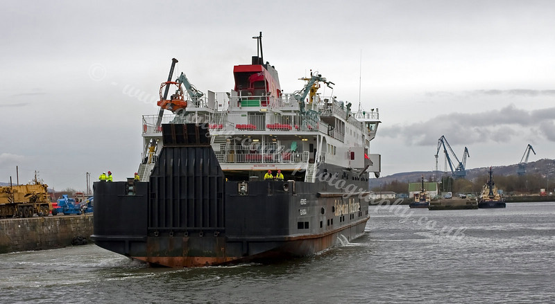 Hebrides Leaving James Watt Dock