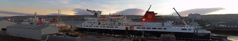 'Isle of Arran' and 'Caledonian Isles'- Garvel Dry Dock - 9 January 2012