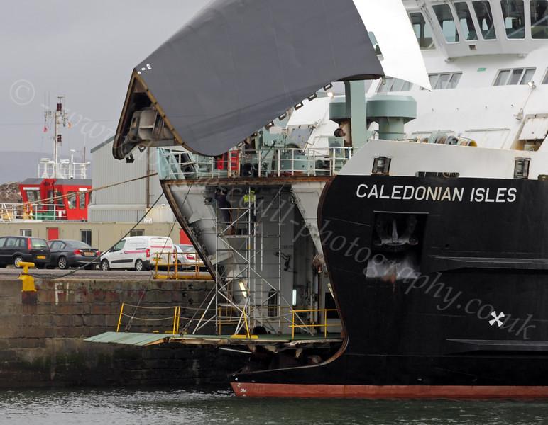 Caledonian Isles - Under Repair - James Watt Dock - 17 February 2012