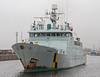 Minna Departs James Watt Dock - 27 December 2011