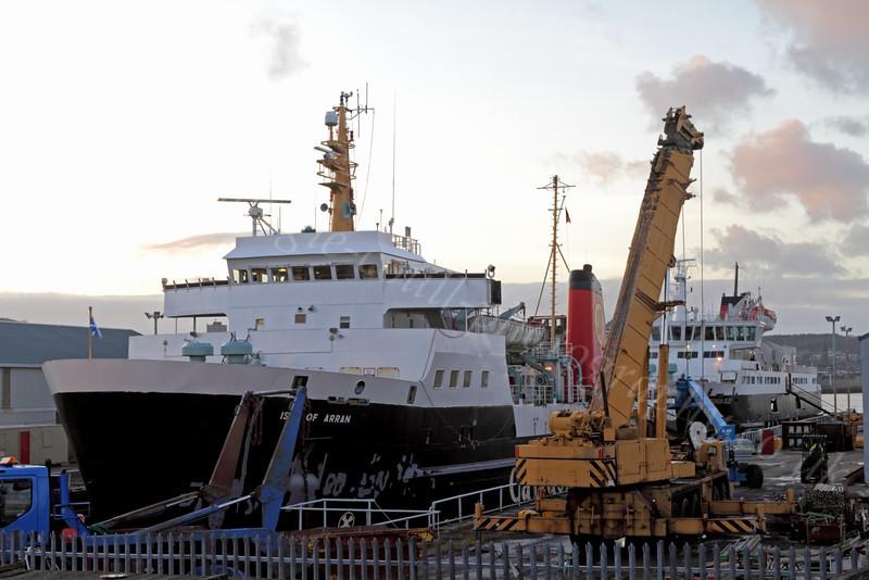 'Isle of Arran' - Garvel Dry Dock - 9 January 2012