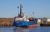 'Burhou I' Approaching Garvel Dry Dock - 18 April 2014