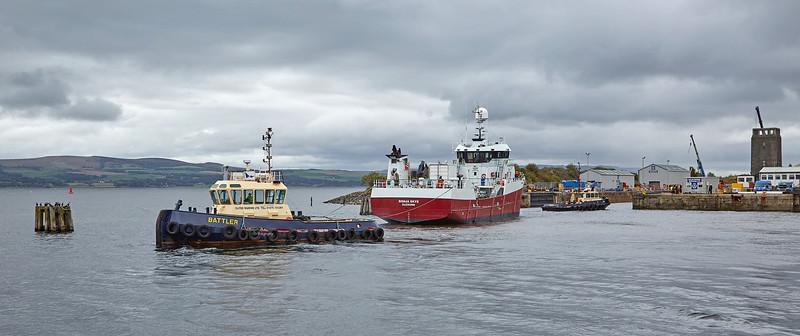 MV Ronja Skye at Garvel Dry Dock - 10 September 20188