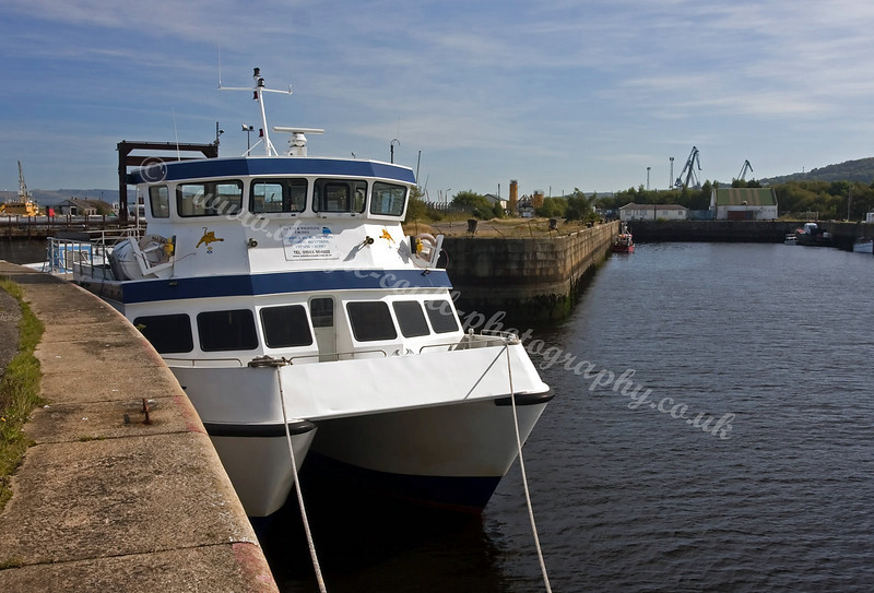 'Ali Cat' Moored in the James Watt Dock, Greenock