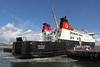 MV Finlaggan - Sqeezing Throgh the Gap - James Watt Dock - 11 April 2012