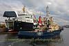 Svitzer Milford - passing the Isle of Arran in the James Watt Dock, Greenock