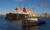 'Battler' Departs Having Assisted the 'Isle of Lewis' Exit the Garvel Dry Dock - 10 October