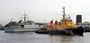 HMS Ramsey - M110 - Entering Garvel dry Dock