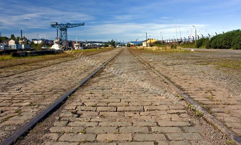 Rails Run Through the James Watt Dock Area - from a Bygone Era