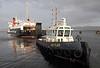 Tug Battler Assists 'Isle of Arran' - James Watt Dock - 19 January 2012