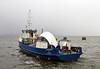 'Lyrawa Bay' with damaged visor from the 'Coruisk' at James Watt Dock - 15 March 2014
