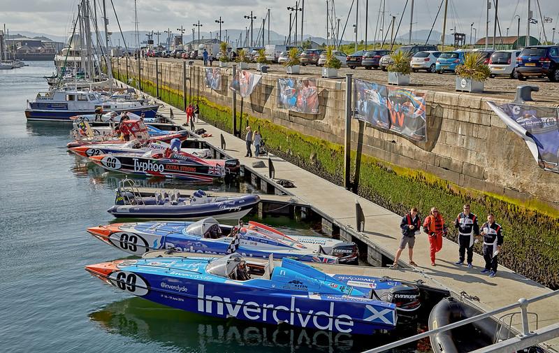 P1 Powerboats Race at James Watt Dock - 18 June 2016