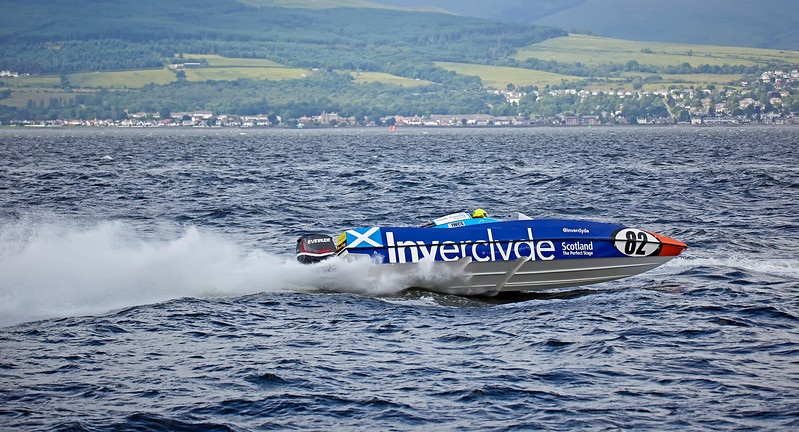 Inverclyde Powerboat (82) off Greenock Esplanade - 25 June 2017