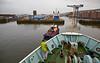 'MV Saturn' approaching Garvel Dry Dock - 25 February 2015