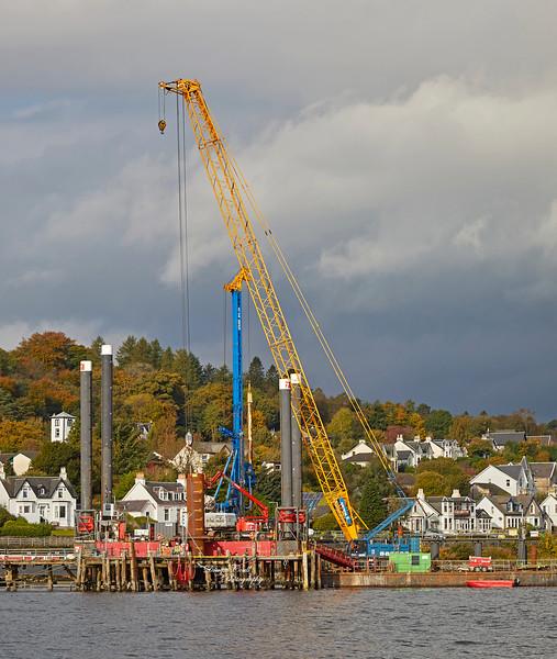 Construction Work at Hunter's Quay - 10 October 2018