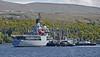 RFA Gold Rover berthing at Faslane - 16 May 2014