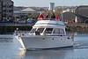 Motor Cruiser with Cold Passengers - James Watt Dock - 12 November 2011