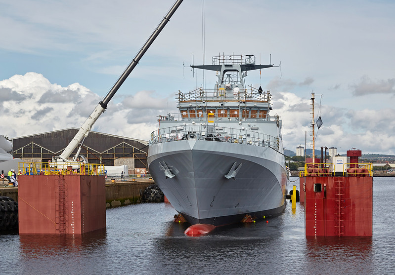 (HMS) Medway during Launch at King George V Docks - 23 August 2017