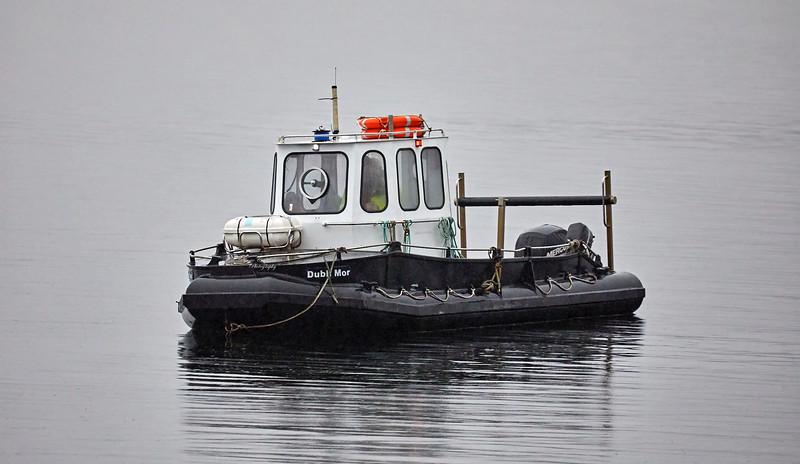 Dubh Mor Ready to Assist USNS Big Horn (T-AO-198) at Loch Striven Jetty - 8 October 2018