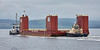 Barge 'Dina Launcher' passing Port Glasgow - 27 August 2016