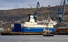 MV Finnarrow Preparing to Exit Inchgreen Dry Dock - 20 March 2013