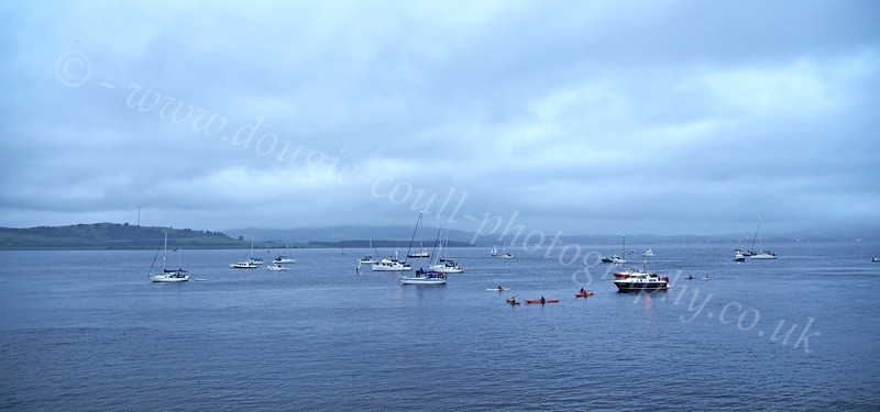 Small Boats Gather for the Save Clyde Coastguard Flare Demonstration  - 31 August 2012