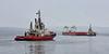 Barge Flotilla passing Greenock - 20 July 2015