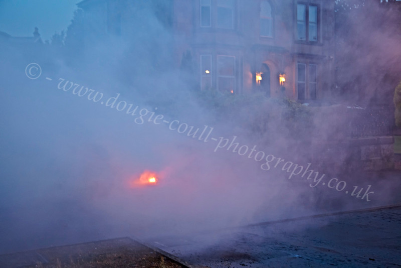 A Rouge Flare Landed Near Houses - Save Clyde Coastguard Flare Demonstration - 31 August 2012