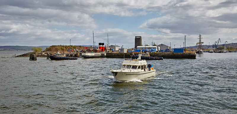 Busy Scene at James Watt Dock - 25 April 2016
