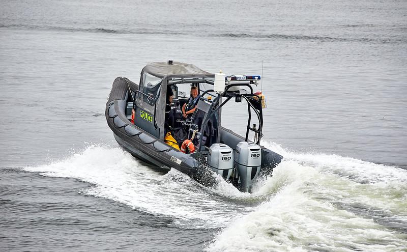 Police RHIB at James Watt Dock - James Watt Dock - 14 August 2020