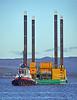 Commander Piling Barge departing Greenock - 19 November 2020